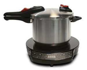 pressure cooking on induction hob
