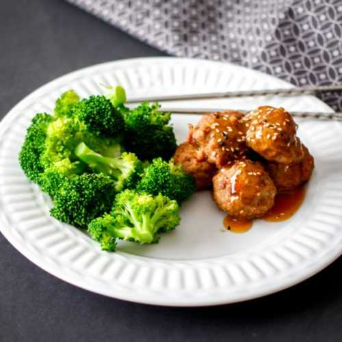 Meatballs with Asian sauce