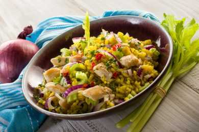 Instant Pot Chicken Caesar Rice