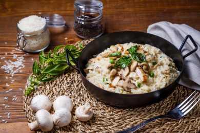 Instant Pot Creamy Mushroom Alfredo Risotto