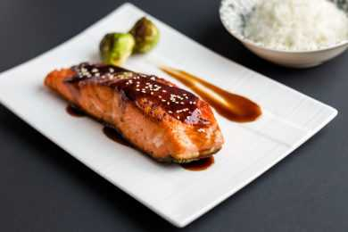 Instant Pot Glazed Salmon