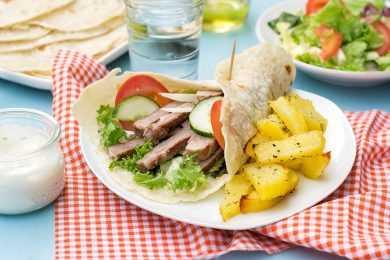 Instant Pot Greek Pork Tacos