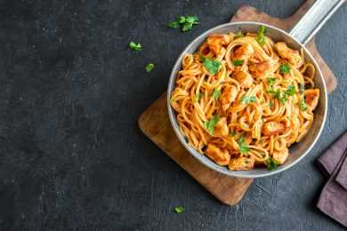 Instant Pot Italian Rooster and Pasta with Marinara Sauce