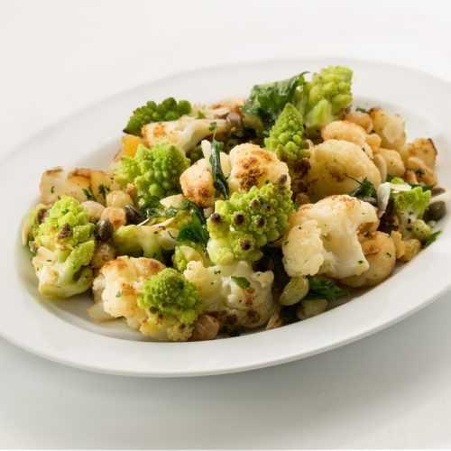Roasted Broccoli And Cauliflower