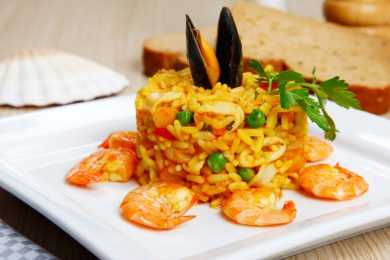 Instant Pot Saffron Prawns with Risotto