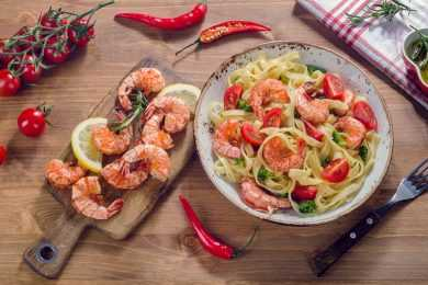Instant Pot Shrimp Pasta