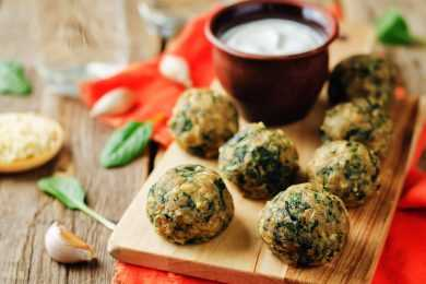 Instant Pot Spinach Balls