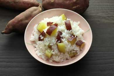 Instant Pot Thai Sweet Potatoes with Brown Rice