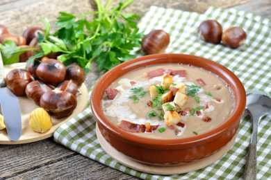 Instant Pot Bacon Chestnut Soup