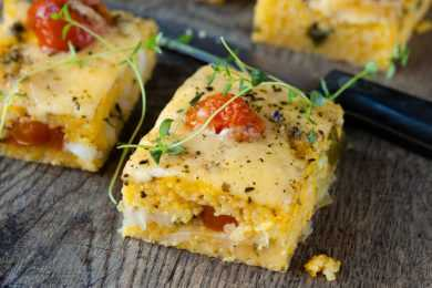 Instant Pot Cheesy Polenta Squares