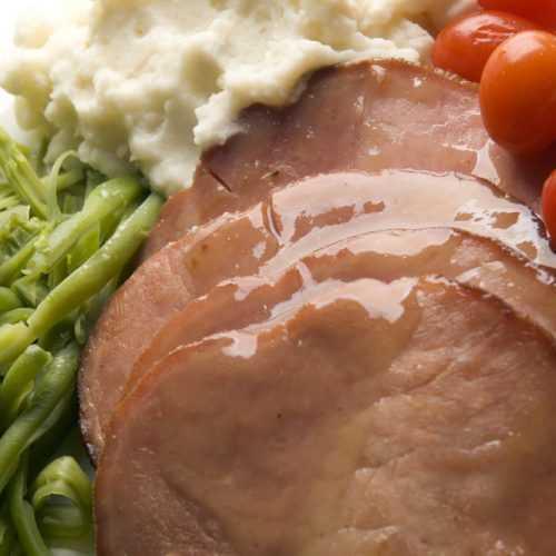 maple-glazed ham