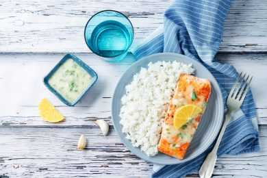 Instant Pot Salmon and Rice