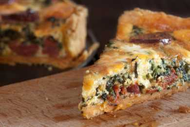 Instant Pot Sausage Spinach Quiche