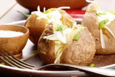 Instant Pot Steamed Hollow Potatoes with Cheese
