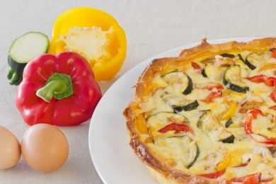 Instant Pot Tomato Bell pepper Quiche