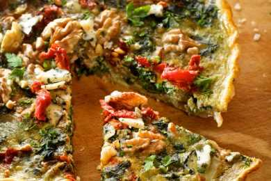Instant Pot Tomato Spinach Quiche