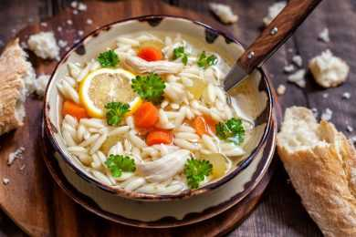 Instant Pot Chicken And Orzo Soup With Butternut Squash