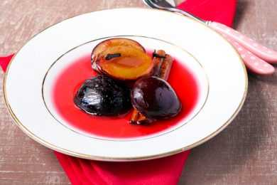 Instant Pot Red Wine Poached Plums