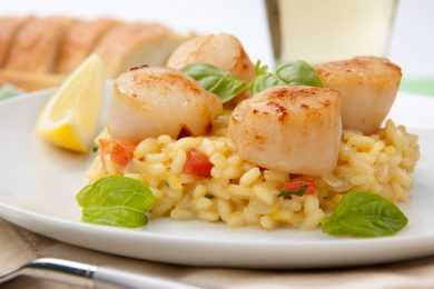 Instant Pot Risotto with Pan Seared Scallops