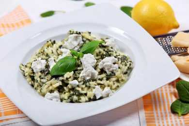 Instant Pot Spinach & Goat Cheese Risotto