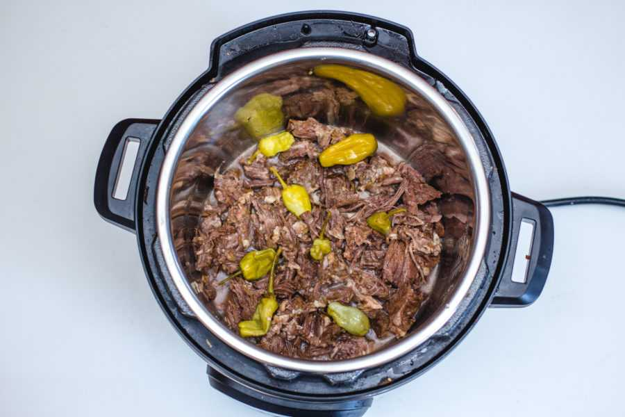 mississippi Pot Roast inside the pot