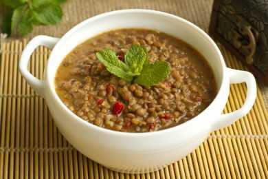Instant Pot Hearty Brown Lentil Soup