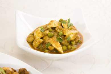 Instant Pot Mushroom Peas Curry