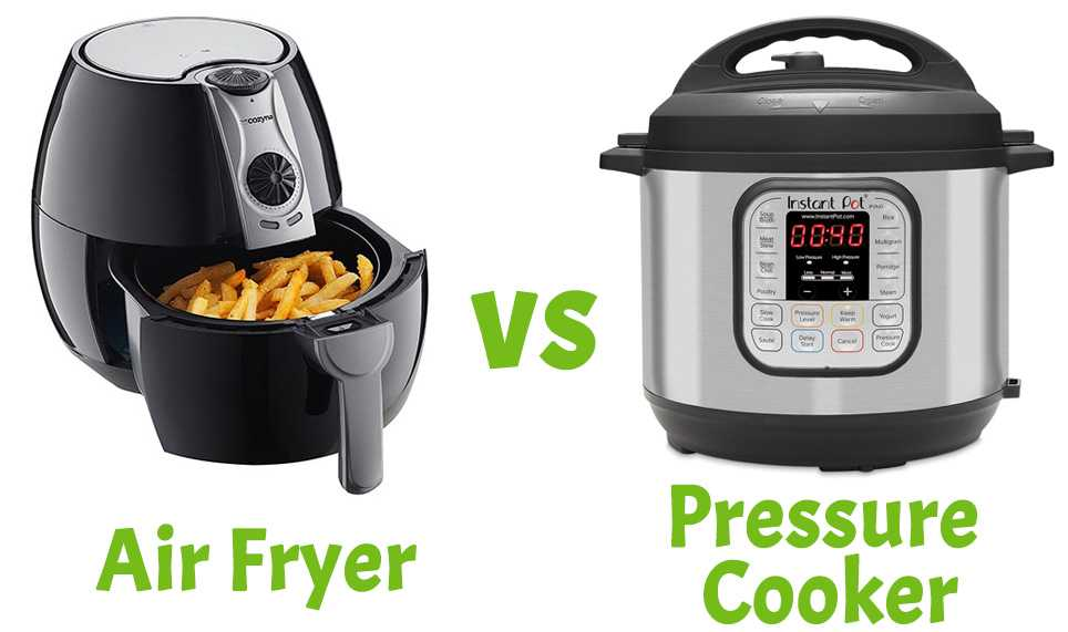 Electric Pressure Cooker VS Air Fryer: The Difference