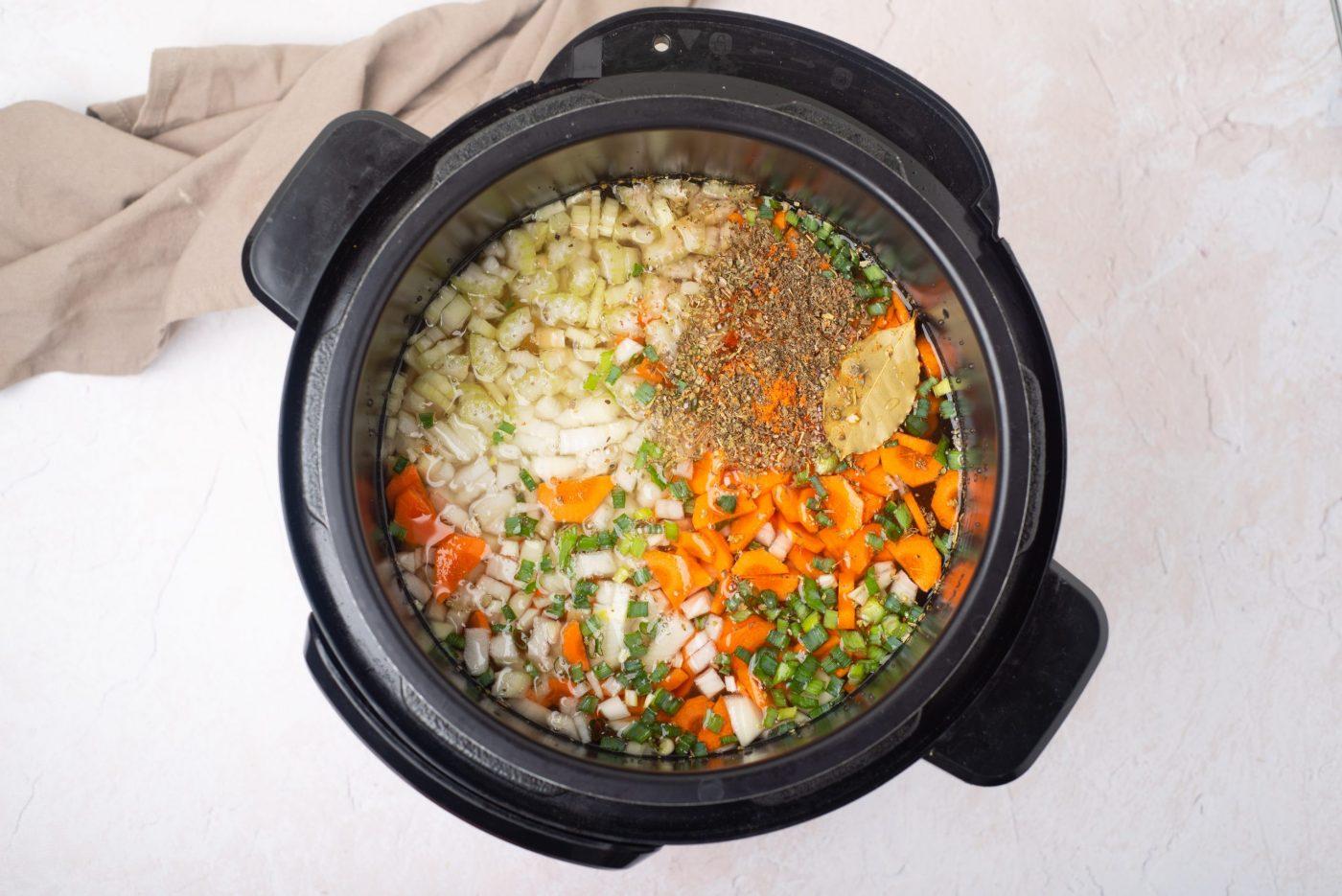 Instant pot split pea soup-3