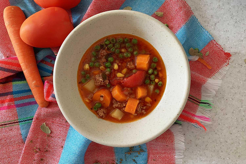 Instant Pot Hamburger Soup