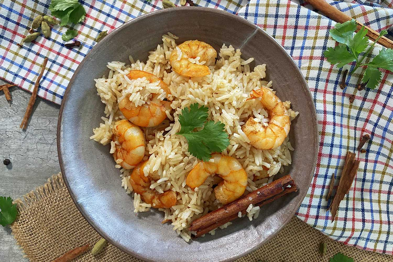 Instant Pot Shrimp Biryani